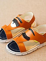 Unisex Sandals Summer Sandals Casual Flat Heel Applique Black / Yellow / White Walking