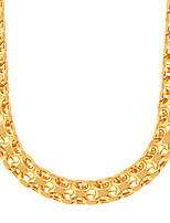 Simple Unique High Quality 18K Gold Plated Suitable For Men And Women Wear 55CM Big Necklace N50103