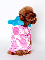 Cat / Dog Hoodie / Pajamas Black / Pink / Coffee Dog Clothes Winter / Spring/Fall Cartoon Cute / Casual/Daily