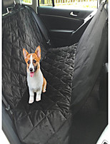 Dog Car Seat Cover Pet Mats & Pads Waterproof Foldable Black Brown Plush