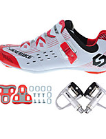 Cycling Shoes Unisex Outdoor / Road Bike Sneakers Damping / Cushioning White / Red-sidebike