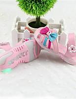 Mädchen-Sandalen-Lässig-Leder-Flacher Absatz-Light Up Schuhe-Weiß Rosa