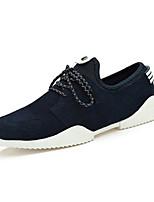 Masculino-Tênis-Conforto-Rasteiro-Preto Azul-Tecido-Casual