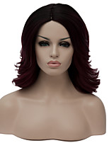 Purple short curly hair The European and American fashion wig