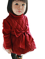 Girl's Casual/Daily Solid DressOthers Fall Red