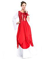 Costumes Princess series Costumes Halloween / Oktoberfest Red Patchwork Terylene Dress / More Accessories