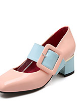 Women's Heels Fall Leatherette Casual Low Heel Others Black Pink White Walking