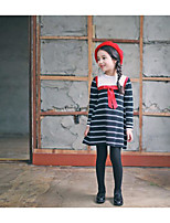Girl's Holiday Striped SkirtCotton Spring / Fall Black