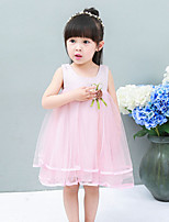 Girl's Casual/Daily Print DressCotton Summer Blue / Pink / White