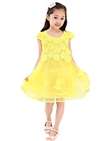 Girl's Going out Solid Dress,Others Summer Pink / Purple / White / Yellow