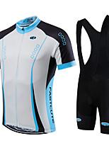 Sportif Vélo/Cyclisme Maillot + Cuissard/Maillot+Corsaire Bretelles / Ensemble de Vêtements/Tenus Homme / Unisexe Manches courtes