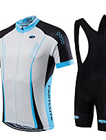 Deportes Bicicleta/Ciclismo Maillot + Pantalones Bib/Maillot+Culotte Con Tirante / Sets de Prendas/Trajes Hombres / Unisex Mangas cortas