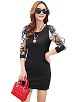 Women's Plus Size / Going out / Casual/Daily Street chic Bodycon DressBlue / Red / Yellow / Green / Wine / Black