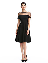 TS Couture® Cocktail Party Dress A-line Bateau Knee-length Jersey with