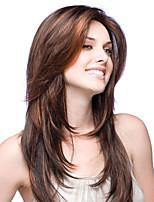 20-24inch новые слоистые яки прямые бразильские Remy девственницы человеческих волос Glueless фронта шнурка парики для афро-американцев