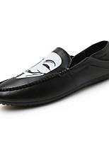 Черный / Айвори / Белый-Мужской-На каждый день-Полиуретан-На плоской подошве-Удобная обувь / Модная обувь-На плокой подошве