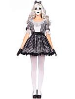 Costumes Uniformes Halloween / Fête d'Octobre Noir Mosaïque Térylène Robe / Plus d'accessoires