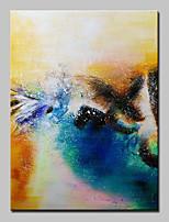 Ручная роспись Абстракция / Абстрактные пейзажи Картины маслом,Modern / Европейский стиль 1 панель Холст Hang-роспись маслом For