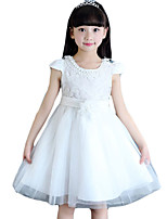 Vestido Chica de-Noche-Un Color-Otros-Verano-Rosa / Blanco