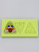 Flowers shape triangle silicone products silicone baking mold fondant cake decorating tools