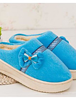 Women's Slippers & Flip-Flops Comfort Customized Materials Casual Flat Heel Bowknot Blue / Pink / Coral Others