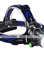 High Power CREE XM-L2 LED Headlight 3000 Lumens Ultra Bright Zoomable Helmet Light Hands-free Flashlight 2x18650/USB