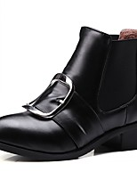 Feminino-Botas-Saltos / Botas de Motocicleta / Coturno / Inovador / Botas de Cowboy / Botas de Neve / Botas Cano Curto / Bico Fino /