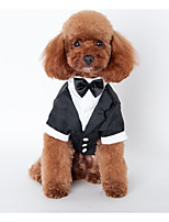 Dog Outfits Black Dog Clothes Winter / Spring/Fall Britsh Wedding