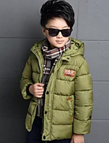 Boy's Casual/Daily Print Down & Cotton PaddedPolyester Winter Blue / Green / Red