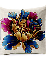 1PC Household Articles Back Cushion Novelty Originality Fashionable Floral Peony Prints Pillow Case