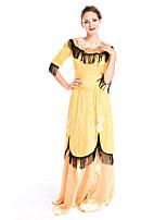 Costumes Plus de costumes Halloween Beige Couleur Pleine Térylène Robe / Plus d'accessoires