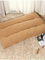 Cat / Dog Bed Pet Cushion & Pillows Brown Cotton