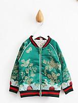 Completo e giacca Girl Casual Con stampe Cotone Primavera / Autunno Verde / Rosso