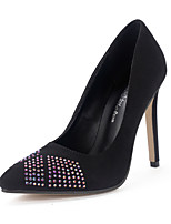 Women's Heels Slip-on Sparkling Glitter Pointed Toe Party /Dress / Casual Stiletto Heels/Pumps Fit Shoes Black