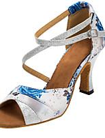 Chaussures de danse(Autre) -Personnalisables-Talon Personnalisé-Satin / Paillette Brillante-Latine / Salsa