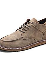 Коричневый / Серый / Хаки-Мужской-На каждый день-Дерматин-На плоской подошве-Удобная обувь-На плокой подошве