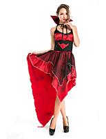 Costumes de Cosplay / Costume de Soirée Conte de Fée / Esprit Fête / Célébration Déguisement Halloween Rouge MosaïqueRobe / Plus