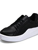 Men's Sneakers Spring Summer Fall Winter Comfort PU Office & Career Athletic Casual Lace-up Walking