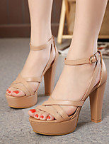 Women's Sandals Summer Platform Leatherette Casual Chunky Heel Others Black / Khaki Others