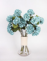 1 1 Филиал Полиэстер Гортензии Букеты на стол Искусственные Цветы 75cm