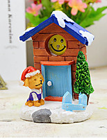 Christmas Hat Dog House Ornaments Christmas Ornaments Wholesale Wedding Gift Home Furnishing Resin
