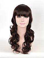 couleur femmes brunes perruques synthétiques mode ondes longues perruques européennes et américaines