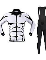 Esportivo Camisa com Calça Bretelle Unissexo Manga Comprida MotoRespirável / Secagem Rápida / A Prova de Vento / Design Anatômico /