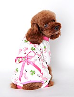 Cat / Dog Clothes/Jumpsuit / Pajamas Yellow / Blue / Pink Dog Clothes Summer / Spring/Fall Cartoon Cute / Casual/Daily