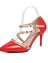 Homme-Habillé / Soirée & Evénement-Noir / Rouge / Blanc-Talon Aiguille-Talons / Bout Pointu-Chaussures à Talons-Cuir