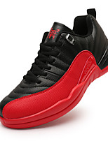 Men's Sneakers Spring / Fall Comfort PU Casual Flat HeelBlack / Red / White Sneaker