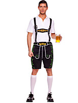 Costumes More Costumes Halloween / Oktoberfest White / Black Solid Terylene Top / Pants / More Accessories