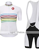 KEIYUEM® Cycling Jersey with Bib Shorts Unisex Short SleeveBreathable / Quick Dry / Dust Proof / Wearable / Compression / Back Pocket /