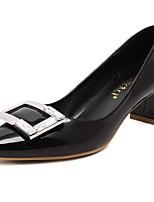 Damen-High Heels-Büro / Kleid / Lässig-Lackleder / PU-Blockabsatz-Spitzschuh / Geschlossene Zehe-Schwarz / Rosa / Rot