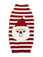 honden Truien Rood Hondenkleding Winter Streep Kerstmis /